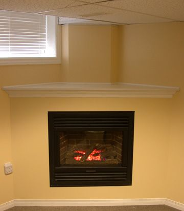 of corner gas fireplace  Natural gas vent free corner fireplace ...