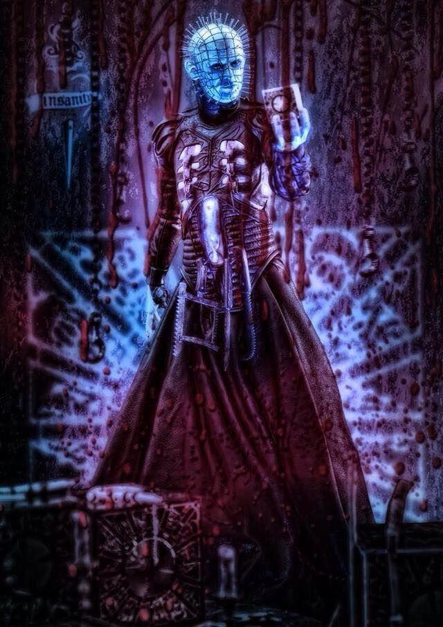 "Horror Movie Art : Hellraiser 1987 ""Pinhead"" by Juan Sixx 1961"