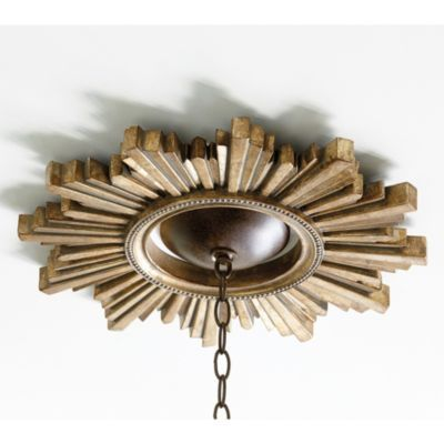 Sunburst Ceiling Medallion - this would be beautiful and rustic to craft from reclaimed lumber or drift wood- leave it natural or spray it a metalic sheen.