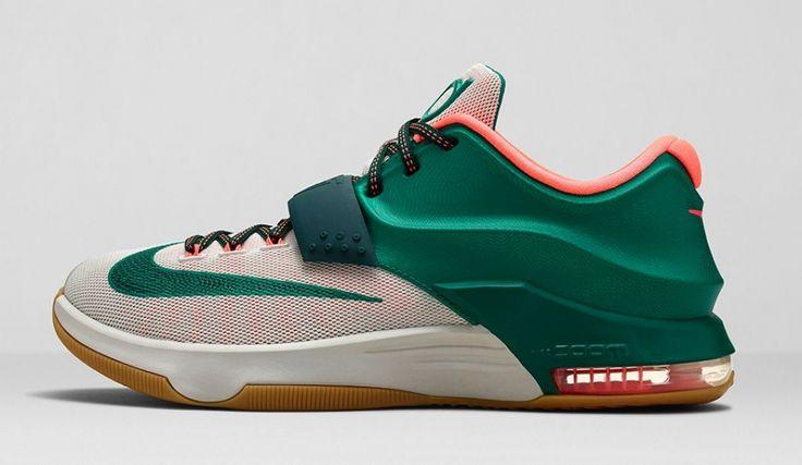 New  arrival 653996-330  Nike KD VII Mystic Green/White-Bright Mango-Gum Light Brown http://www.retrowhite.com/