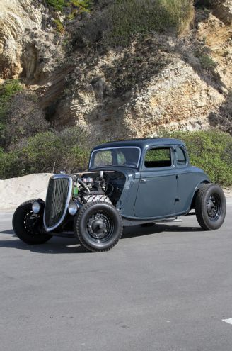 Aaron Von Minden's 1934 Ford 5-Window Coupe Has A Different Kind of Flathead: A 1937 Cadillac V-8