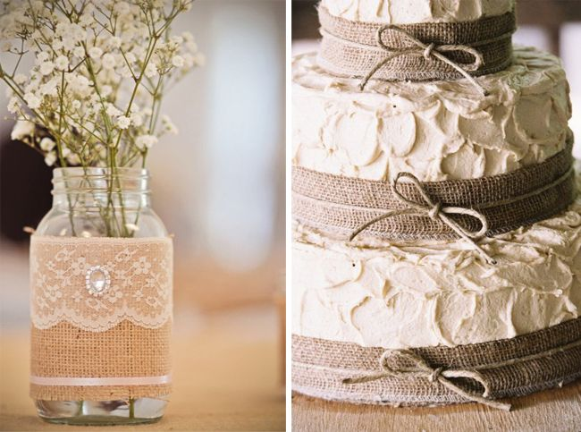 Burlap Bridal Shower Decorations Chic Burlap Flowers