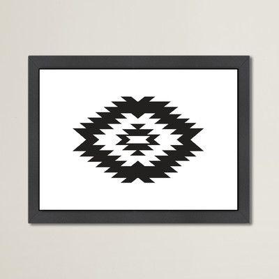 "Varick Gallery Beckett Southwestern Framed Graphic Art Size: 10.5"" H x 12.5"" W x 1.5"" D"
