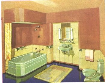 44 best bathroom ideas images on pinterest for 1930 s bathroom decor