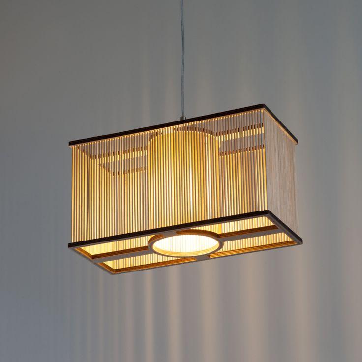 Tom Raffield  /Cuboid Light + E27 Ceiling Kit