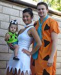 DIY Flintstone Family Costume - 2013 Halloween Costume Contest