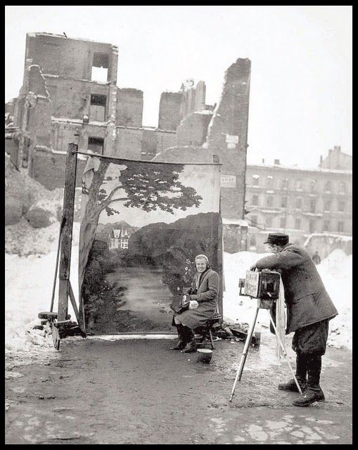 a hauntingly beautiful and heartbreaking photograph by Michael Nash, Warsaw, 1946