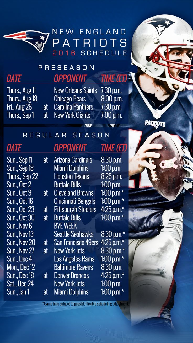 patriots schedule - photo #5