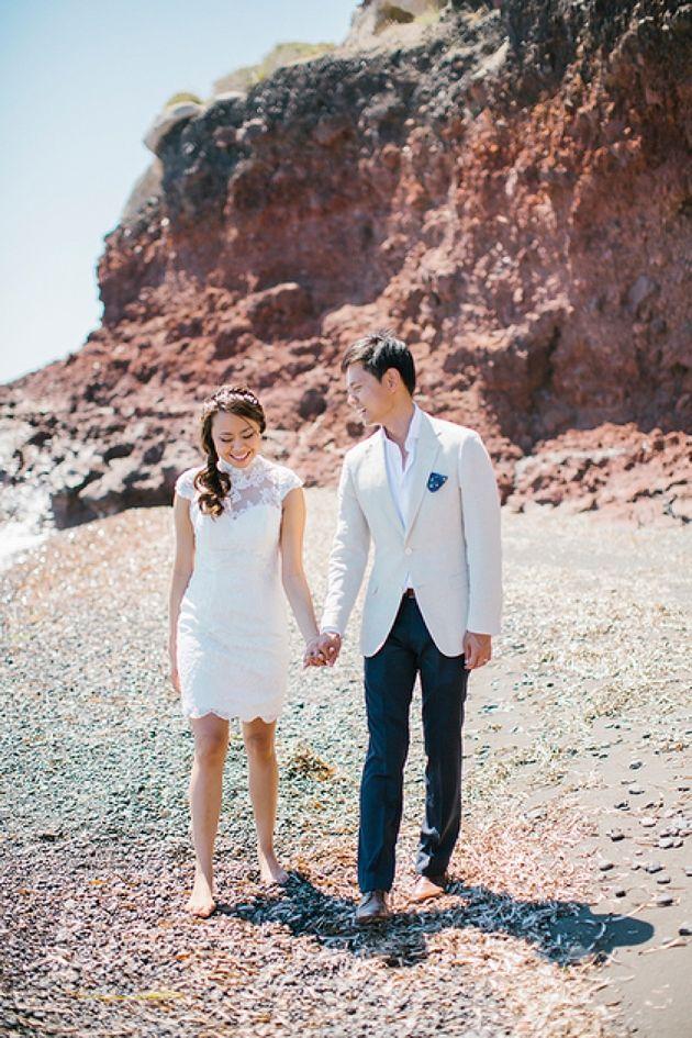 Chinese pre wedding engagement Shoot in Santorini