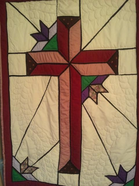 Stained Glass Cross Quilt Pattern