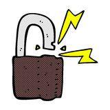 símbolo cómico del candado de la historieta Fotografía de archivo libre de regalías