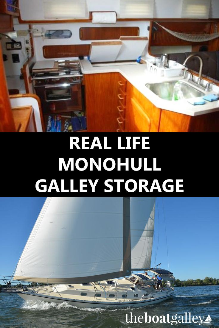 Real Life Monohull Galley Storage