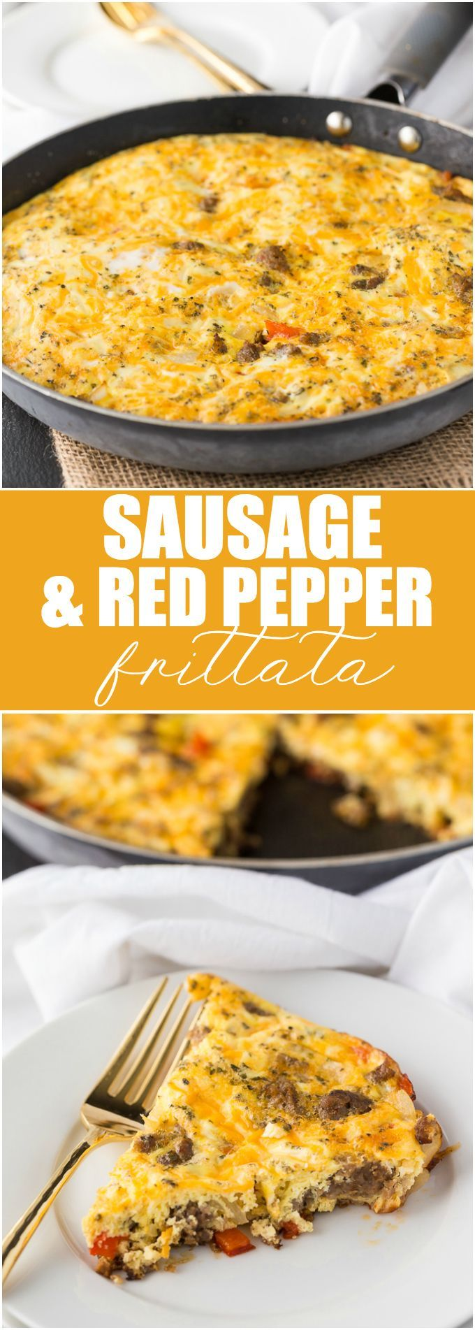 Sausage & Red Pepper Frittata - A hearty and filling low carb brunch recipe!