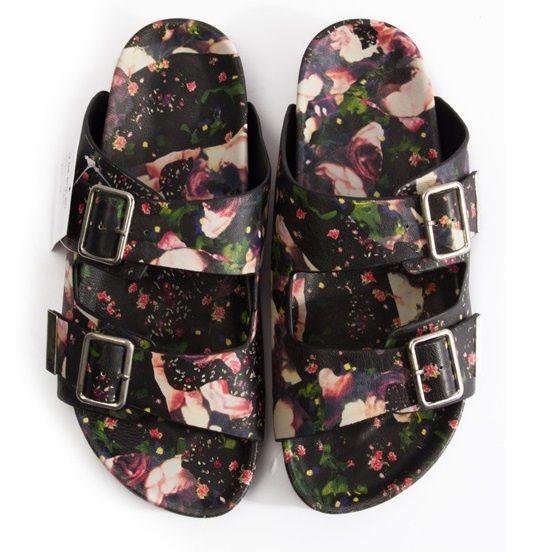 Indie Designs Floral Print Sandals
