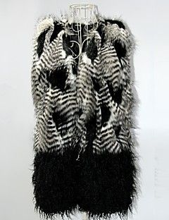 kadınların yeni stil taklit kürk, gri ve kemer ile siyah uzun ince yelek