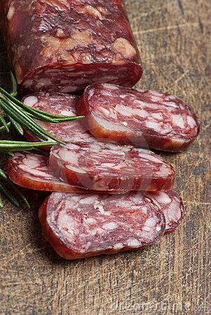 French dry salami-saucisson sec
