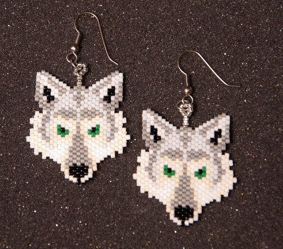 Wolf Head Earrings