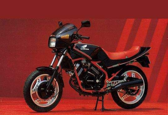 Honda VT250 - pretty sweet small bike.  I had this one before.