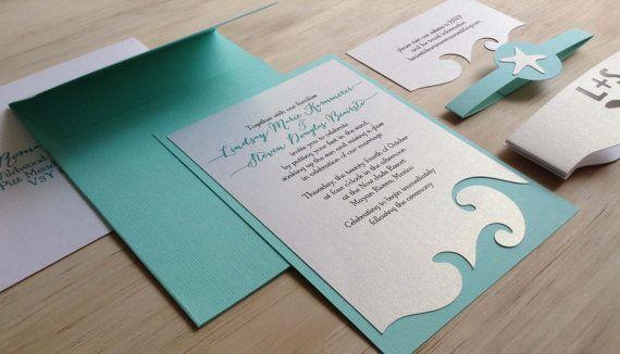 Beach Wedding Invitation - Destination Wedding Invitation  - SAMPLE - on Etsy, $3.00