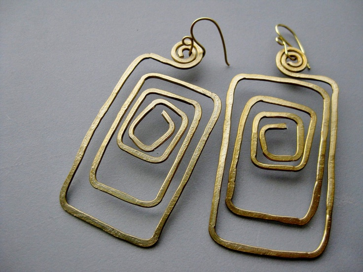 138 best aluminum jewelry ideas images on pinterest jewelry ideas long maze gold tone hammered anodized aluminum wire tribal scroll earrings 1698 via etsy solutioingenieria Choice Image