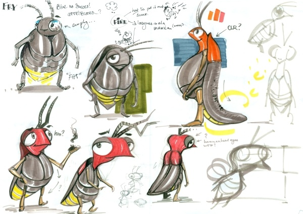 Fry the Firefly early sketch 3 #CharacterDesign #Gamedesign #MomongaPinballAdventures #Sketch