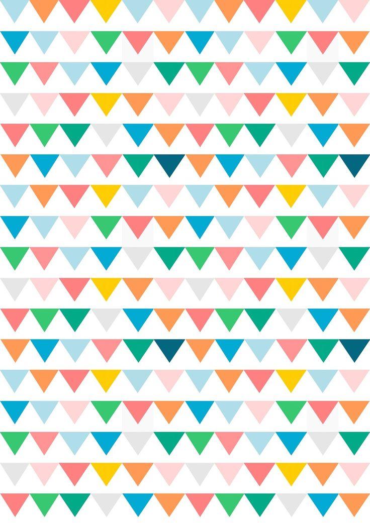 Free digital bunting scrapbooking paper - ausdruckbares Geschenkpapier - freebie | MeinLilaPark – DIY printables and downloads