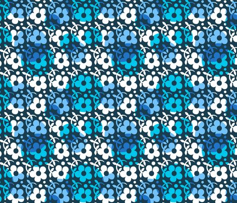 Flowers with overlapping circles fabric by nossisel on Spoonflower - custom fabric