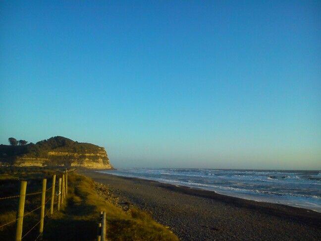 En la playa despues de una larga caminata