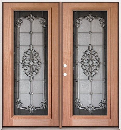 Unfinished full lite mahogany entry double doors ready to for Front porch pantry coupon