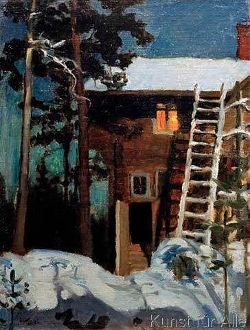 Akseli Gallen-Kallela - Kalela im Winter