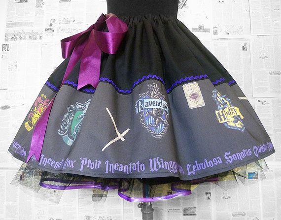 Womens Harry Potter Costume, Harry Potter Cosplay, Harry Potter Dress, CHILDRENS SIZES,Skirt, Rooby Lane, Fabric designer Uk