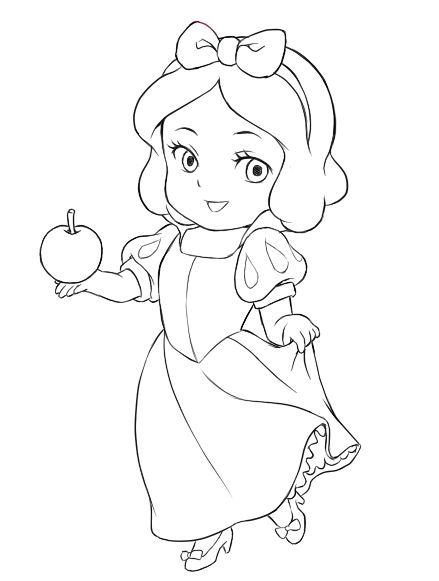 Chibi Snow White chibi snow white lines cartoons