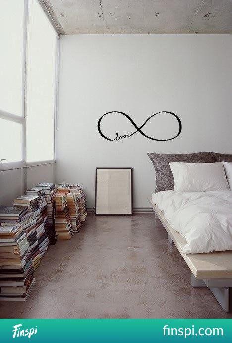 Sypialnia #wnętrze #książki #sypialnia #łóżko #nieskończoność