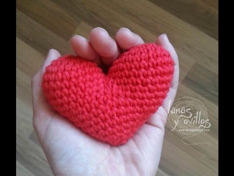 Amigurumi Heart - Video Tutorial Spanish (English subtiltes)