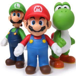 3pcs/set Super Mario Bros Luigi Mario Yoshi PVC Action Figures Toy Best Buy