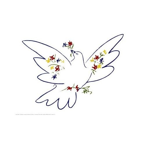 """Picasso's """"Dove of Peace"""" my grandma had this print in her dining room for as long as I can remember"""