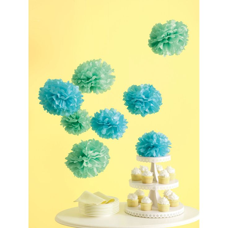 Martha Stewart Medium Blue Pom Poms