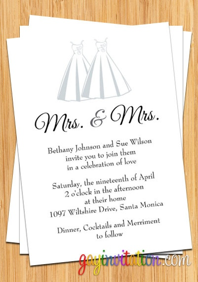 lesbian wedding invitations love and weddings pinterest wedding lesbian wedding and wedding invitations