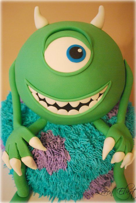 Monsters University, Monster's Inc, Mke & Sully #cake @Donna Oswald Shirreffs I want this cake for my birthday haha