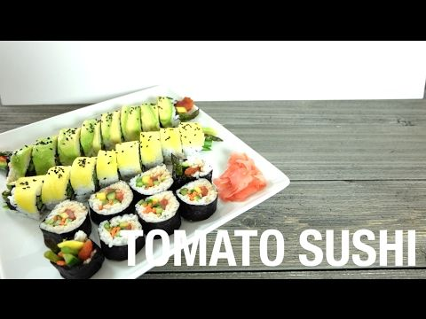 Vegan Tomato Tuna Sushi Recipe - YouTube