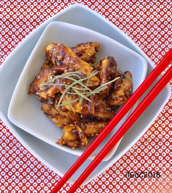 il giardino dei ciliegi: Straccetti di pollo con salsa yakitori, mandorle e...