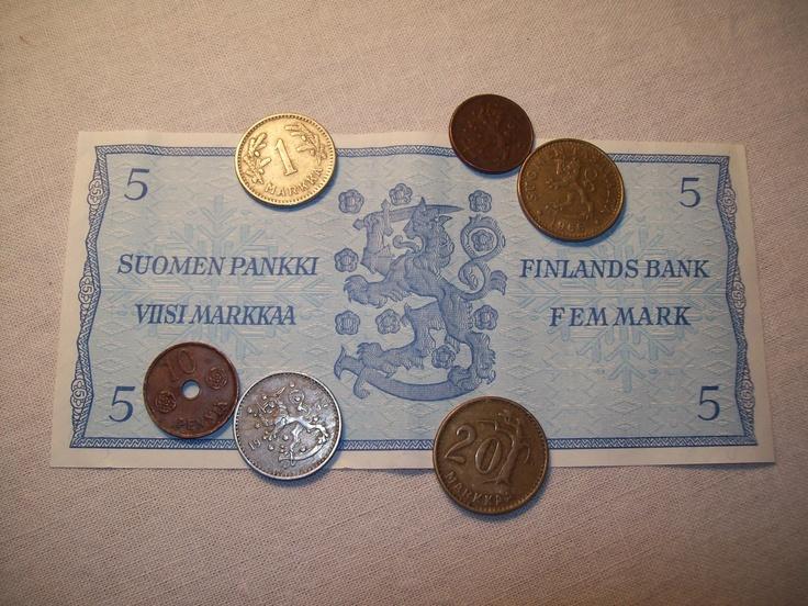 I want our MARKKA back! http://en.wikipedia.org/wiki/Finnish_markka