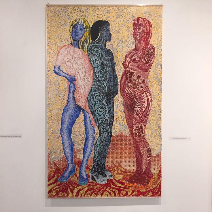"""Janusz Akermann """"III Gracje"""" 2008; wystawa """"Akermann, Gorlak, Marszałek, Witkowski"""" w Państwowej Galerii Sztuki w Sopocie (14.11.-13.12.2015) #akermann #januszakermann #pgssopot #exhibition #painting #art #artgallery #sopot"""