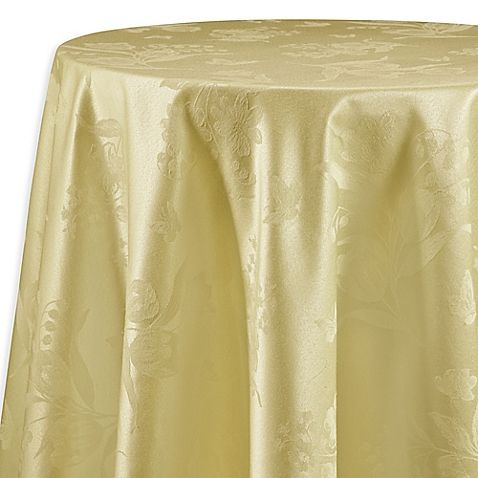 Spring Splendor 52 Inch X 70 Inch Oblong Tablecloth In Butter