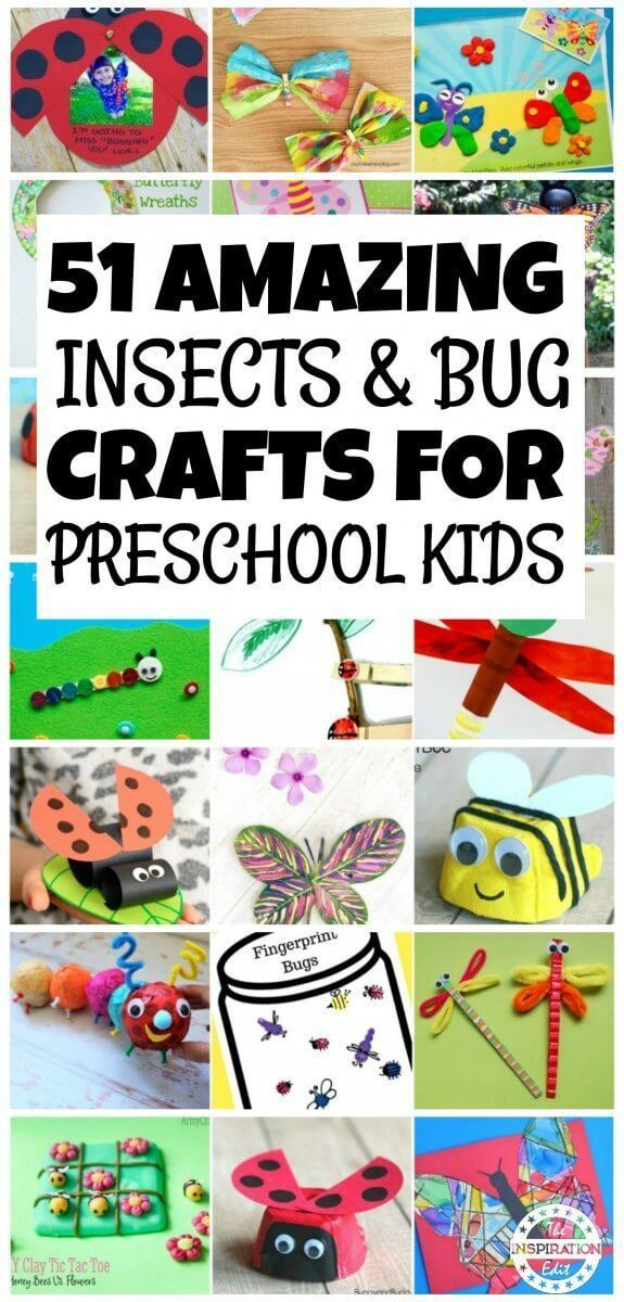 51 Insects And Bug Crafts For Preschoolers Daycare Ideas