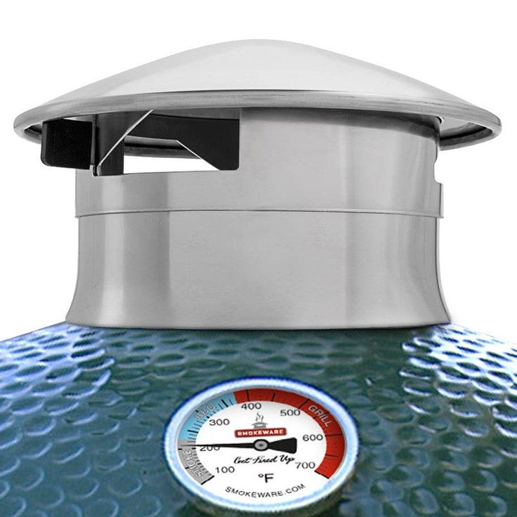 Smokeware Stainless Steel Chimney Cap for Big Green Egg