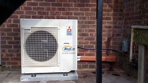 A ductless heat pump has the same two primary components that standard heat pumps (air source type) have - an indoor unit and an outdoor condensing unit