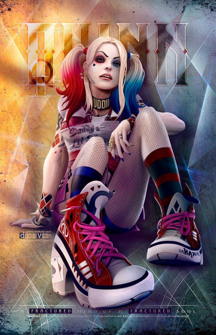 Missy McMuffin - Harley Quinn, dvoon missy mcmuffin on ArtStation at https://www.artstation.com/artwork/missy-mcmuffin-harley-quinn More FanArt at https://pinterest.com/supergirlsart/