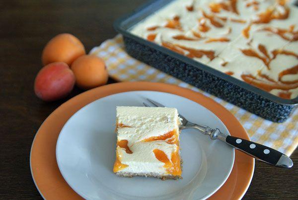 Apricot Cheesecake Bars (Aprikosen-Käsekuchen-Schnitten)