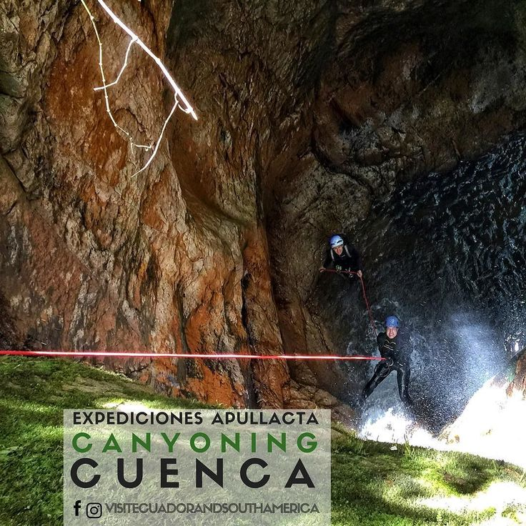 Do you love spending time outdoors in nature? Do you want to spend a fun day near #cuenca? This Canyoning tour by @expedicionesapullacta was amazing!  I got to admire gorgeous landscapes breathtaking waterfalls while rappelling swimming and more fun activities.  You will soon read all about it in the blog http://bit.ly/1T09Xq8 #allyouneedisecuador #ecuador #cajas #nationalparkcajas #parquenacionalcajas #Cuenca #VisitSAmerica #SouthAmerica #VisitSouthAmerica #l4l #tbt #vsco #letsgosomewhere…